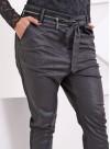"""Панталон """"Zipper"""" с ниско дъно от еко кожа - 9"""