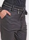 """Панталон """"Zipper"""" с ниско дъно от еко кожа - 10"""