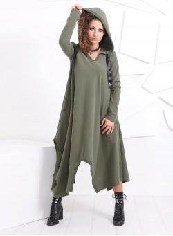 """Спортна рокля """"Solara"""" с асиметрия"""