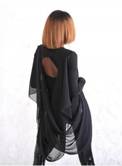 """Ефектна блуза """"Loveliness"""" в черно"""