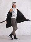 """Жилетка """"Super Hug"""" в тъмно сиво - 5"""