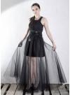 Екстравагантна пола с тюл в черно - 1