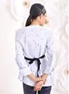 """Асиметрична риза """"Ladybird"""" в интересен принт - 6"""