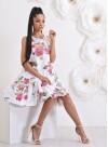 """Асиметрична рокля """"Gardenia"""" с ефектен гръб - 1"""