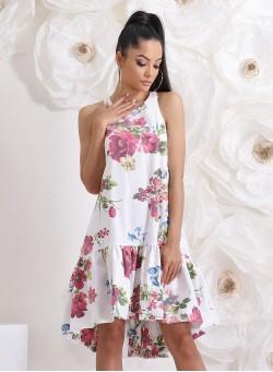"""Асиметрична рокля """"Gardenia"""" с ефектен гръб"""