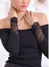 """Блуза """"Elegance"""" от рипс с дантелени ръкави и подвижен аксесоар - 1"""