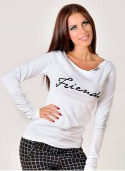 """Блуза """"Friends"""" в бяло"""