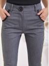 """Панталон """"Лил Ким"""" с кожени кантове в жълто и черно - 1"""