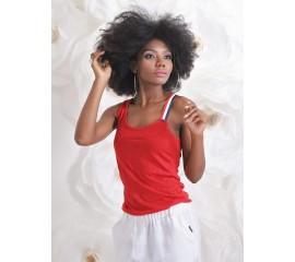 Потник от червен памук с различни презрамки