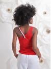 Потник от червен памук с различни презрамки - 1