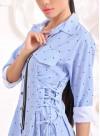 """Рокля-риза """"Little Point"""" със закачливи детайли - 4"""