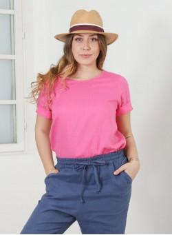 """Ленена блуза """"Pink"""""""