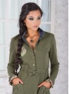"""Рокля """"Green Bow"""" в пастелно зелено и интересни джобчета - 1"""
