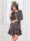 Винтидж рокля със свободна кройка и дантелен кант - 2