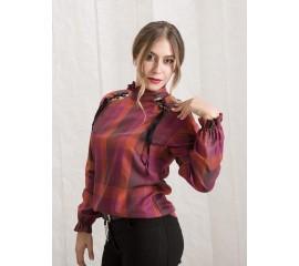 "Карирана блуза ""Purple Storm"""