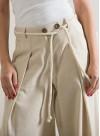 """Панталон """"Intro"""" от лен в естествен цвят - 5"""