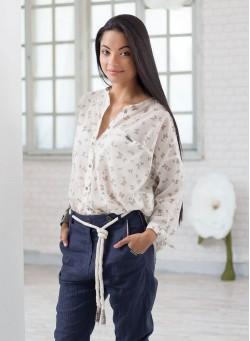 """Риза """"Butterfly"""" от 100% памук с интересен пеперуден принт"""
