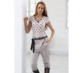 Панталон с интересно закопчаване от лен с еластан