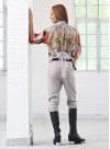 Панталон с интересно закопчаване от лен с еластан - 2
