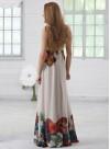 Дълга рокля от копринен шифон - 1