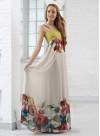 Дълга рокля от копринен шифон - 2