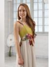 Дълга рокля от копринен шифон - 3